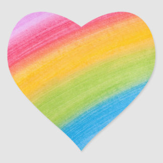 irgendwo über den Regenbogenaufklebern Herz-Aufkleber