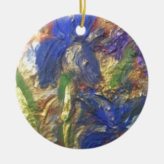 Iris abstrakt keramik ornament