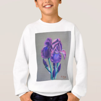 Iris auf Linnen Sweatshirt