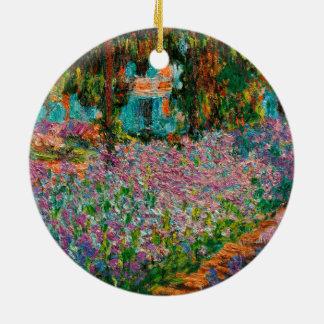Iris bei Giverny Claude Monet Rundes Keramik Ornament
