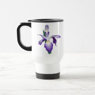 Iris-Blume Reisebecher