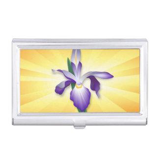 Iris-Blume Visitenkarten Dose