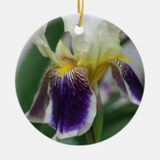 Iris-Blumen-Foto-Kreis-Verzierung Keramik Ornament