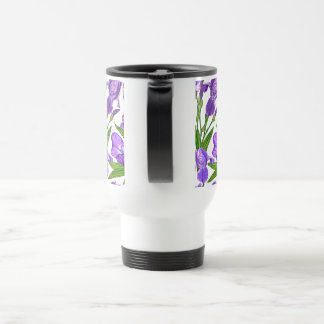 Iris-Blumen Reisebecher