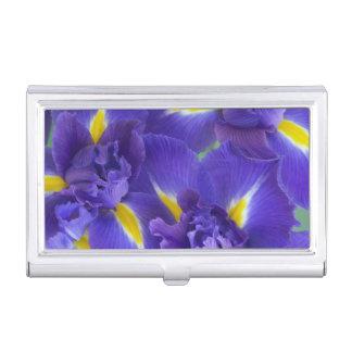 Iris-Blumen Visitenkarten Dose