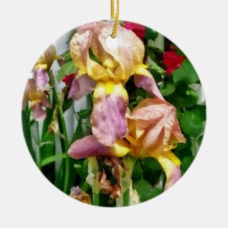 Iris durch Palisadenzaun Keramik Ornament