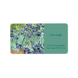 Iris durch Van Gogh Adressaufkleber
