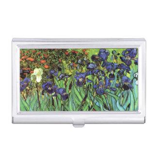 Iris durch Van- Goghschöne Kunst Visitenkarten Etui