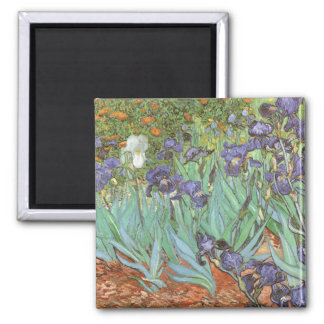 Iris durch Vincent van Gogh, Vintager Quadratischer Magnet