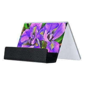 Iris-Farbveilchen Schreibtisch-Visitenkartenhalter
