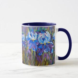 """""""Iris-Garten-Blumen-"""" BlumenTasse Tasse"""