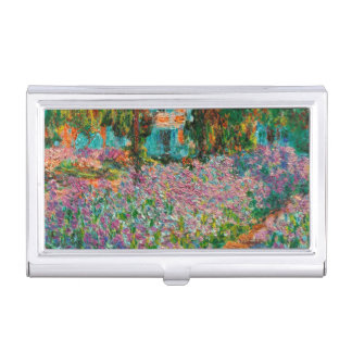 Iris in Monets Garten bei Giverny durch Claude Visitenkarten Dose