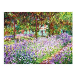 Iris in Monets Garten Claude Monet Postkarte