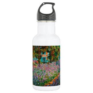 Iris in Monets Garten Edelstahlflasche