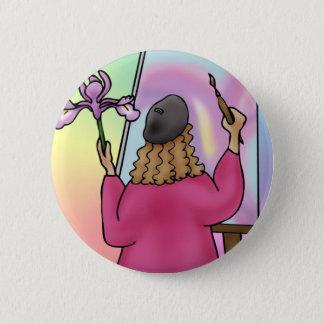 Iris ist für Inspiration Runder Button 5,1 Cm