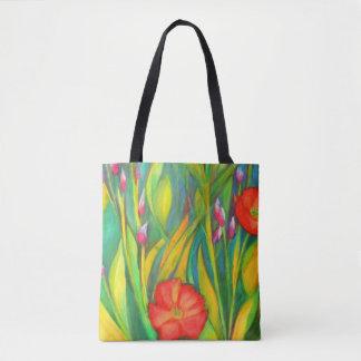 Iris und Mohnblumen-Medium-Tasche Tasche