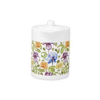 Iris und Rosen Watercolorblumenmuster