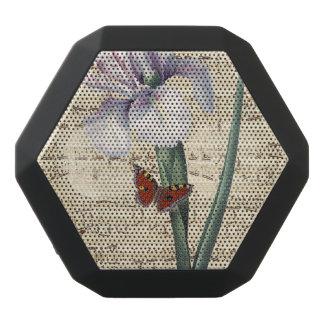 Iris- und Schmetterlingsmusik Schwarze Bluetooth Lautsprecher