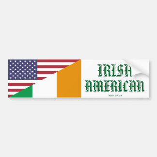Irisch - amerikanischer Autoaufkleber