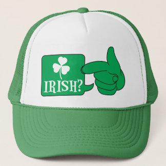 IRISCH? mit einem Entwurf Kleeblatt St. Patricks Truckerkappe