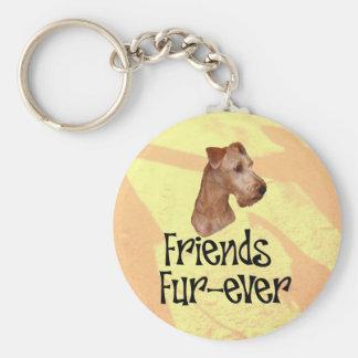 "Irisch Terrier ""Friends fur-ever"" Schlüsselanhänger"