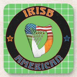 Irische amerikanische Harfen-Korken-Untersetzer Untersetzer