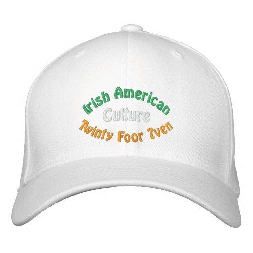 Irische amerikanische Kultur Bestickte Mütze