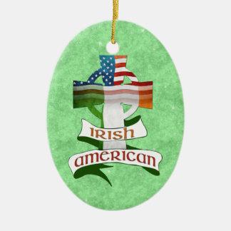 Irische amerikanische Querverzierung Keramik Ornament