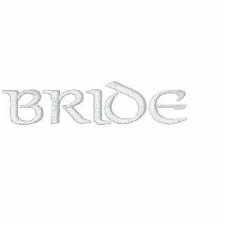 Irische Braut-Fleece machen oben Reißverschluss zu Bestickter Fleece Hoodie
