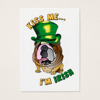 Irische Bulldoggen-Profil-Visitenkarten Jumbo-Visitenkarten