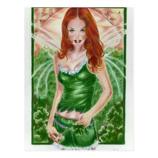 Irische feenhafte Kleeblatt-Postkarte Postkarte