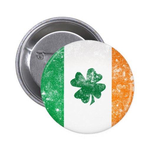 Irische Flagge Anstecknadelbutton