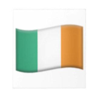Irische Flagge - Emoji Notizblock