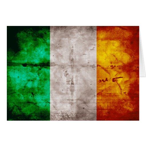 Irische Flagge Karte