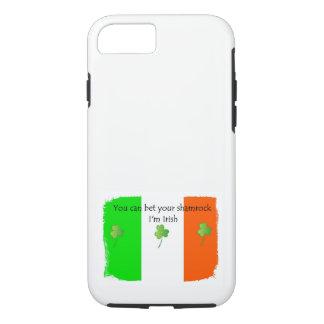 Irische Flagge mit Kleeblättern iPhone 8/7 Hülle