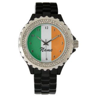 Irische Flagge passt | Personalizable mit Namen Uhren