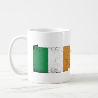 Irische Flagge über Pennsylvania Kaffeetasse
