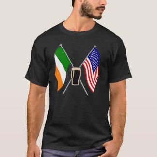 Irische Flaggen der Shirts irisches amerikanisches
