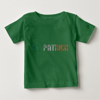 Irische Flaggen-Typografie Irland St Patrick Baby T-shirt