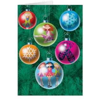 Irische Flitter-Weihnachtskarte Karte
