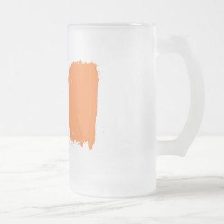 Irische GlasTasse Mattglas Bierglas