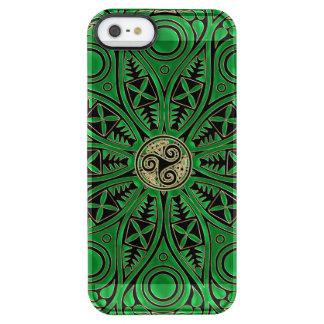 Irische grüne Celtic Triskele Mandala Durchsichtige iPhone SE/5/5s Hülle