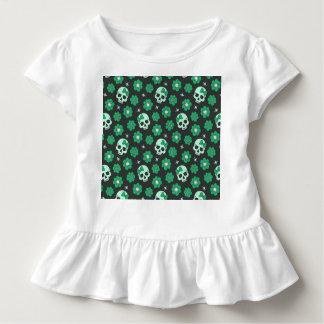 Irische grüne Goth Schädel Kleinkind T-shirt