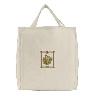 Irische Harfe Bestickte Einkaufstasche