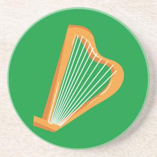 Irische Harfe Irenharfe Sandstein Untersetzer