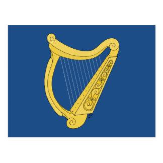 Irische Harfe Postkarte