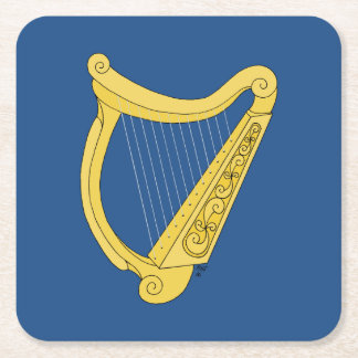 Irische Harfe Rechteckiger Pappuntersetzer