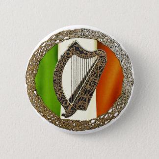 Irische Harfe Runder Button 5,1 Cm