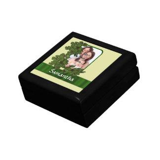 Irische Kleeblatt-Fotoschablone Geschenkbox