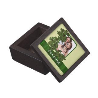 Irische Kleeblatt-Fotoschablone Schachtel